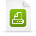 paper, green, file, document icon