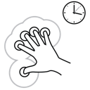 gestureworks, hold, five, finger icon