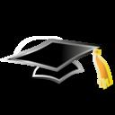 doctoral,cap icon
