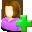 female, plus, people, profile, user, human, woman, person, add, account, member icon