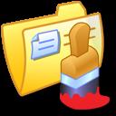 paint, yellow, folder, draw, painting icon