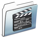 graphite, movie, old, smooth, film, folder, video icon