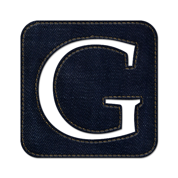 google, social, logo, square, jean, denim icon