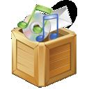 apps, music, box icon