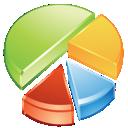 chart, statistics, pie icon