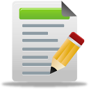 write, test, document, blog post icon