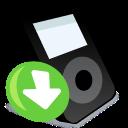 fall, ipod, decrease, black, descend, descending, down, download icon