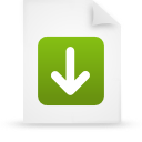 document, paper, file, green icon