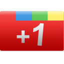 red, +1, google+, one, plus, google, rectangle icon