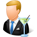 bartender, male icon