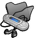 Black, Folder, Mymusic icon