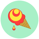 sweet, ice cream, summer, food, dessert icon