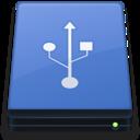 Blue USB Drive icon