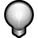 off, alert, bulb, think, idea icon
