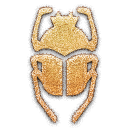 embossed, scarab icon