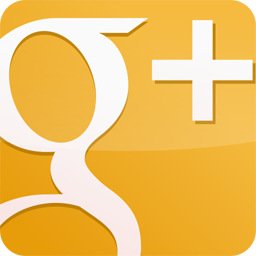 googleplus, gloss, yellow icon