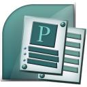office, microsoft, publisher icon