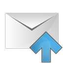 envelope, email, up, upload icon