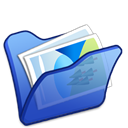Blue, Folder, Mypictures icon