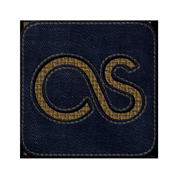jean, social, square, last fm, denim, logo icon
