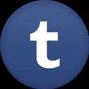 Circle, Flat, Tumblr icon