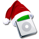 xmas, christmas, mp3 player, ipod icon