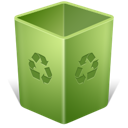 trash, empty, recycle bin icon