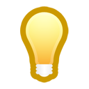 bulb, light, idea icon