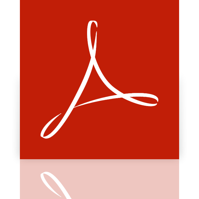 reader, adobe, acrobat, mirror icon