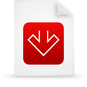 document, red, paper, file icon