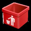 Dsquared, Empty, Red, Trash icon