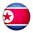 north, country, korea, flag icon