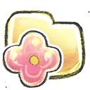 folder, flower icon