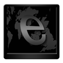 Black, Explorer, Internet icon