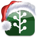 christmas, media, xmas, newsvine, bookmark, social icon