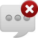 delete text message icon