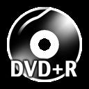 Black DVDplusR icon