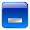 minimize,box,blue icon
