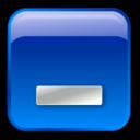 minimize,box,blue icon