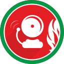 danger, bell, problem, alarm, fire, attention icon