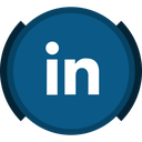 in, social, linked, work, job icon