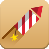 new year, fireworks icon