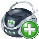 Add, Boombox icon