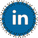 social, yama, linkedin, social network, patch, seam, linked in icon
