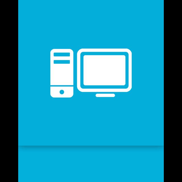 alt, computer, mirror icon