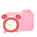 candy, clock, folder, ak icon