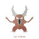 bug, pinsir, kanto, pokemon icon