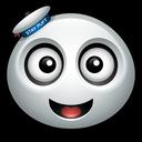 marshmallow, man, ghost, profile, avatar, giant, mascot icon