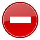 Status dialog error icon