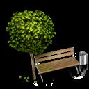Bench, Park icon